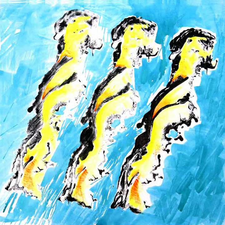 Alessandro Goio – MOAI – Acrilico su tela cm 100X100 – 2014